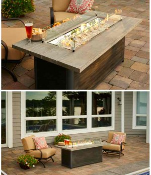 New Cedar Ridge Fire Table at The Outdoor GreatRoom Company