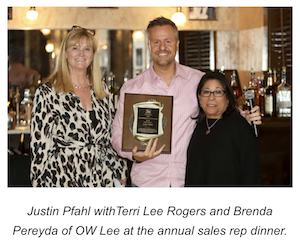 OW Lee Names Sales Representative of the Year for 2019
