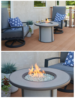 Outdoor GreatRoom Company Debuts Grey Stonefire Gas Fire Pit Table