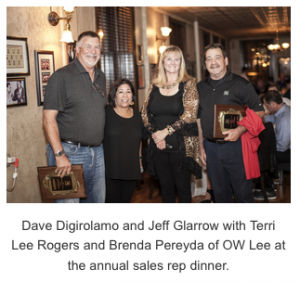 OW Lee Announces Sales Rep of the Year for 2018