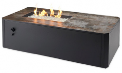 The Outdoor GreatRoom Debuts Kinney Rectangular Gas Fire Pit Table