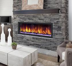 Dynasty Fireplaces' Cascade Series Smart Fireplace