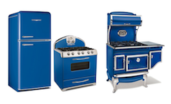 Elmira Stove Works' Northstar and Antique Appliances Shine in Classic Blue