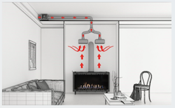 New Heat Control System from Ortal Provides Powerful Option for Redirecting Fireplace Heat